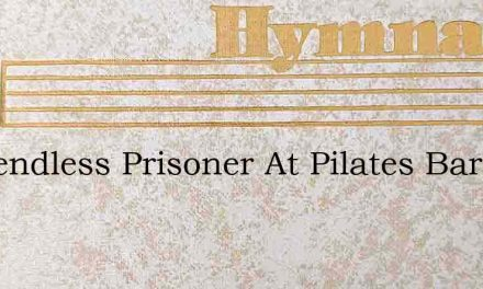 A Friendless Prisoner At Pilates Bar – Hymn Lyrics