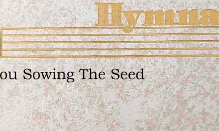 Are You Sowing The Seed – Hymn Lyrics