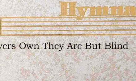 Believers Own They Are But Blind – Hymn Lyrics