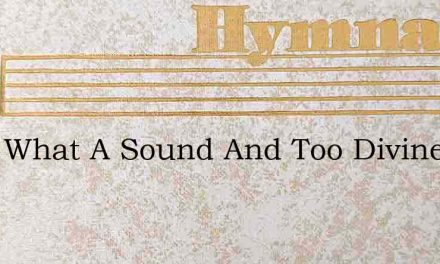 Hark What A Sound And Too Divine For Hea – Hymn Lyrics