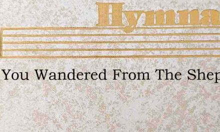 Have You Wandered From The Shepherds Fol – Hymn Lyrics