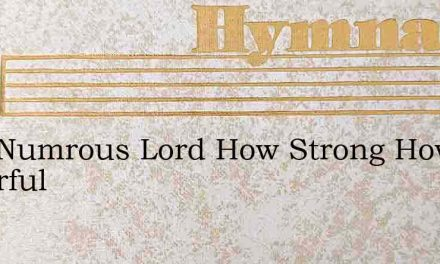How Numrous Lord How Strong How Powerful – Hymn Lyrics