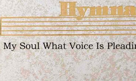 Hush My Soul What Voice Is Pleading – Hymn Lyrics