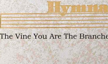 I Am The Vine You Are The Branches Roo – Hymn Lyrics