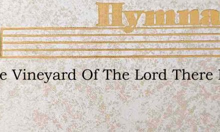 In The Vineyard Of The Lord There Is Wor – Hymn Lyrics