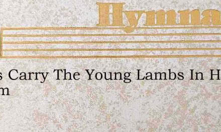 Jesus Carry The Young Lambs In His Bosom – Hymn Lyrics