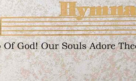Lamb Of God! Our Souls Adore Thee – Hymn Lyrics