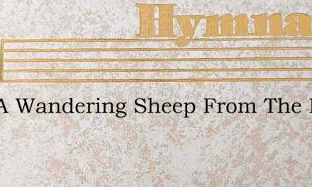 Like A Wandering Sheep From The Fold I S – Hymn Lyrics
