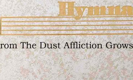 Not From The Dust Affliction Grows – Hymn Lyrics