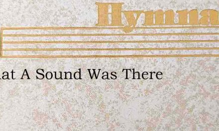 O What A Sound Was There – Hymn Lyrics