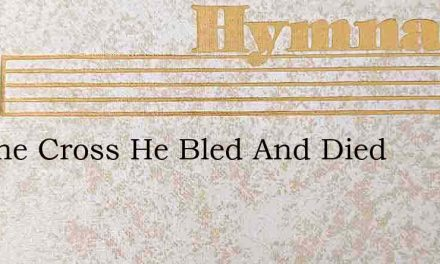 On The Cross He Bled And Died – Hymn Lyrics
