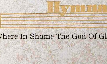 See Where In Shame The God Of Glory Hang – Hymn Lyrics