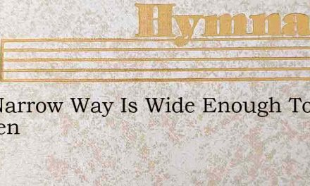 The Narrow Way Is Wide Enough To Heaven – Hymn Lyrics