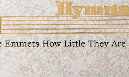 These Emmets How Little They Are In Our – Hymn Lyrics
