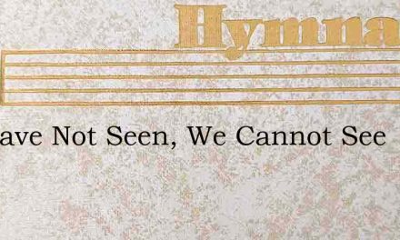 We Have Not Seen, We Cannot See – Hymn Lyrics