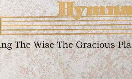 We Sing The Wise The Gracious Plan – Hymn Lyrics