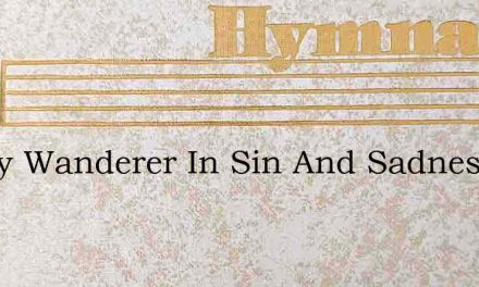 Weary Wanderer In Sin And Sadness – Hymn Lyrics