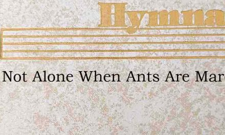 Were Not Alone When Ants Are Marching In – Hymn Lyrics