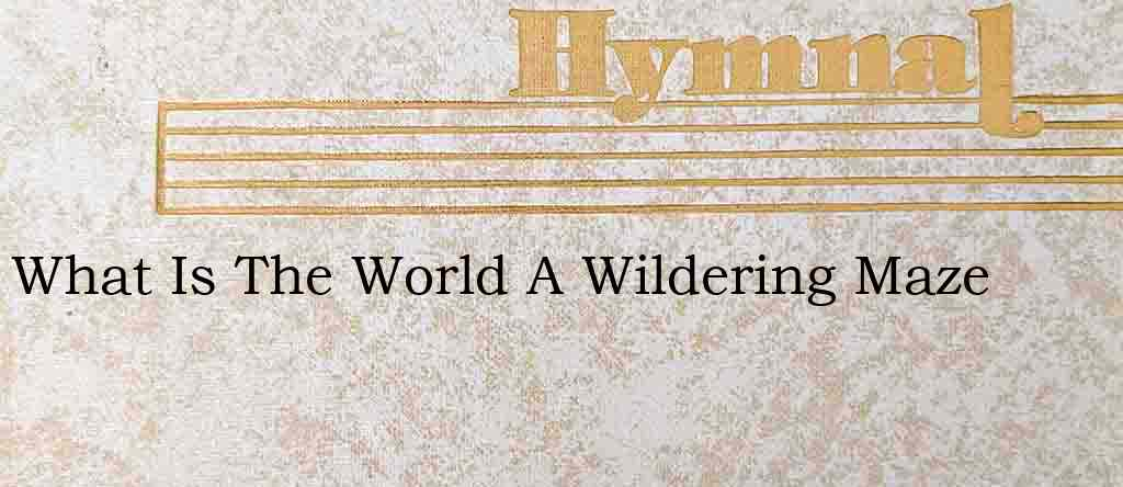 What Is The World A Wildering Maze – Hymn Lyrics
