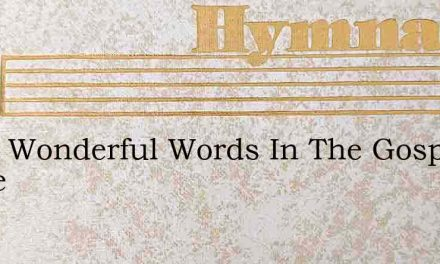 What Wonderful Words In The Gospel Of Grace – Hymn Lyrics