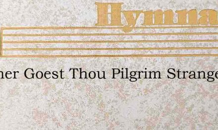 Whither Goest Thou Pilgrim Stranger – Hymn Lyrics