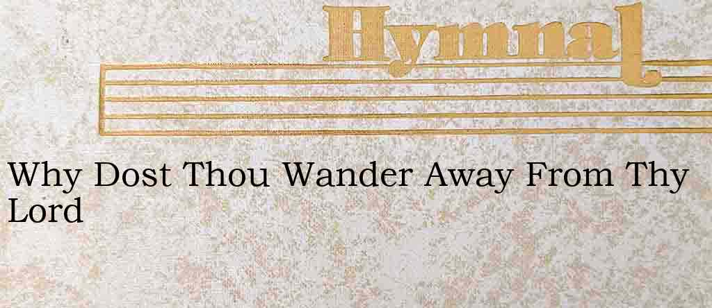 Why Dost Thou Wander Away From Thy Lord – Hymn Lyrics