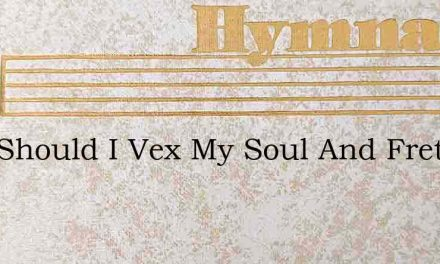 Why Should I Vex My Soul And Fret – Hymn Lyrics