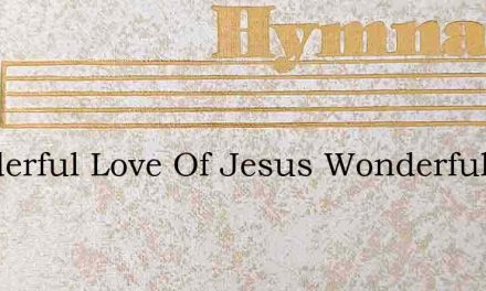 Wonderful Love Of Jesus Wonderful Love – Hymn Lyrics