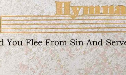 Would You Flee From Sin And Serve The Lo – Hymn Lyrics